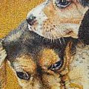 Beagle Puppies Poster by Judy Skaltsounis