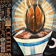 Bean Coffee Languages Poster Poster
