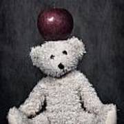 Bear And Apple Poster