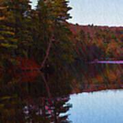 Bear Creek Lake In The Poconos Poster