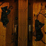 Bear Doors Carved Poster