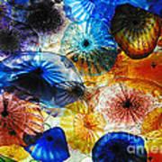 Beautiful Glass Flowers Poster