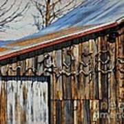 Beautiful Old Barn With Horns Poster