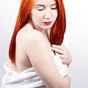 Beautiful Redhead Studio Shot Poster