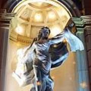 Beautiful Statue Outside The Monte Carlo Hotel Casino Poster