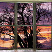 Beautiful Sunset Bay Window View Poster
