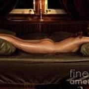 Beautiful Woman Sleeping Naked Poster