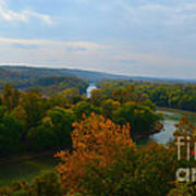 Beauty On The Bluffs Autumn Colors Poster