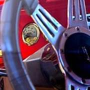 Behind The Wheel Of A 1940 Ford Poster