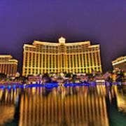 Belagio Las Vegas Poster by Nicholas  Grunas
