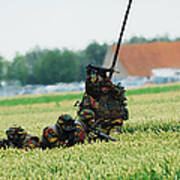 Belgian Paracommandos Entering Poster