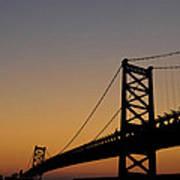 Ben Franklin Bridge Sunrise Poster