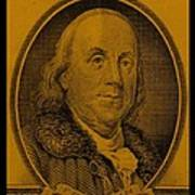 Ben Franklin In Orange Poster