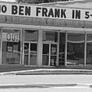 Ben Franklin Says Goodbye - Bw Poster