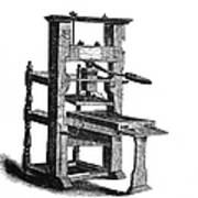 Benjamin Franklins Printing Press Poster