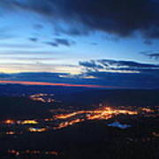 Berkshire Evening From Spruce Hill Savoy Mountain Poster