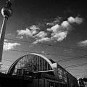 berliner fernsehturm Berlin TV tower symbol of east berlin and the Alexanderplatz railway station Poster by Joe Fox