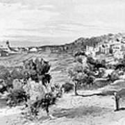 Bethlehem City In Black And White Poster