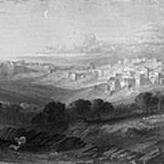 Bethlehem Engraving By William Miller Poster