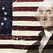 Betsey And George Flag Poster