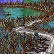 Between Lakes Poster by Marina Gershman