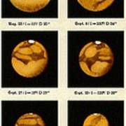 Beyer's Observations Of Mars Poster