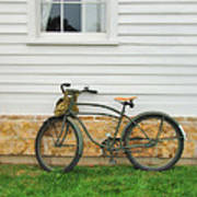Bicycle By House Poster