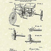 Bicycle Extension Frame 1903 Patent Art Poster