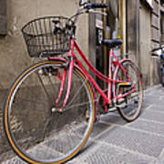 Bicycles Parked In The Street Poster