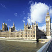 Big Ben And Houses Of Parliament, London, Uk Poster