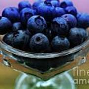 Big Bowl Of Blueberries Poster