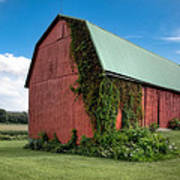 Big Red Barn On Rt 227 Poster