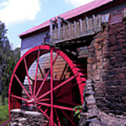 Big Red Wheel Poster