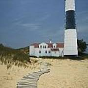 Big Sable Lighthouse In Ludington Michigan Number 3 Poster