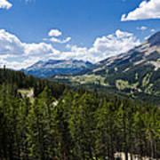 Big Sky Ski Trails Poster