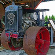 Big Steel Wheel Tractor Poster