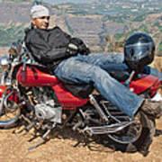 Biker Back Rest Poster