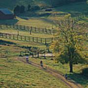 Bikers On Dirt Road, Pocahantas County Poster