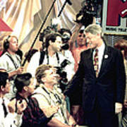 Bill Clinton Appears With Young Poster by Everett