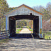 Billie Creek Village Covered Bridge Poster