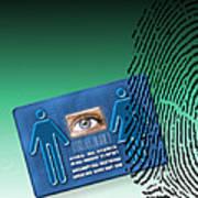 Biometric Id Card Poster