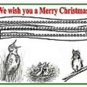Bird Song For Christmas Poster