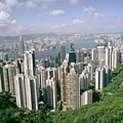 Birds Eye View Over Hong Kong Poster