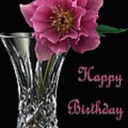 Birthday Vase Poster