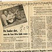 Bits From Danish Article From The Fifties Poster