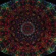 Bizzmuzz Oval Mandala Poster