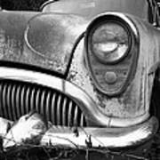 Black An White Buick Poster