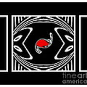 Minimalism Black White Red Abstract Art No.171. Poster
