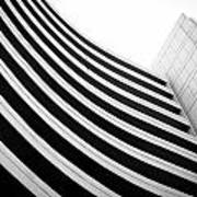Black And White Building Curve Shape  Poster