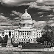 Black And White Capitol Poster